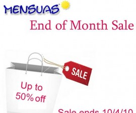 end of month sale mensuas