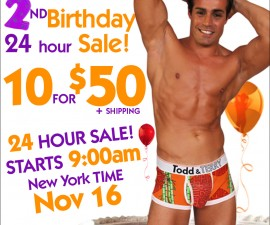 Todd and Terry 24hr underwear sale