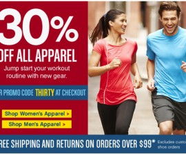 reebok sale on all clothing apparel