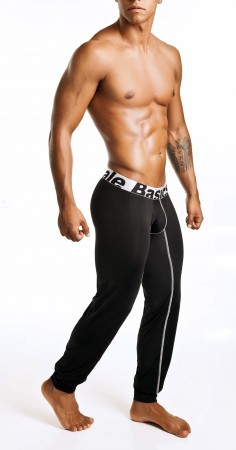 MaleBasics-Long-John-Black-Side